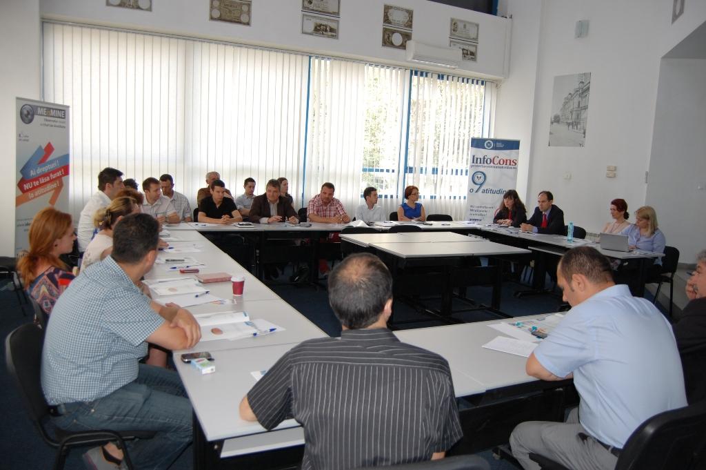 A treia intalnire a Grupurilor de Lucru pentru dezbaterea tematicii Proiectului European ME IS MINE - InfoCons - Protectia Consumatorilor